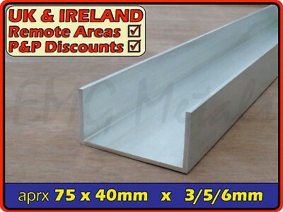 "Aluminium Channel (C U section, gutter, profile,ramp,alloy) | 3"" x 1.5"""