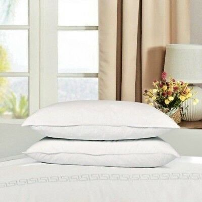 Luxury Duck Feather & Down Pillows Hotel Quality 100% Cotton Cover Extra Filled