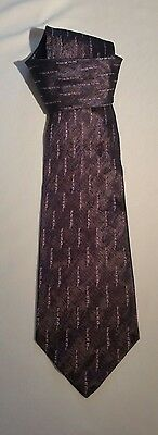 Mens Silk Tie FENDI Purple All Over Logo