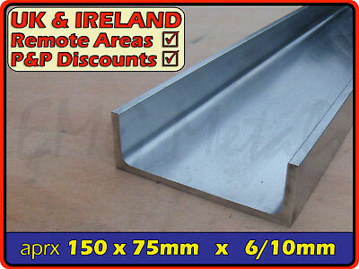"Aluminium Channel (C U section, gutter, profile,ramp,alloy) | 6"" x 3"""
