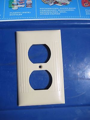 Vintage * SIERRA ELECTRIC * 1-Gang Duplex Outlet Receptacle Wall Plate Set of 1