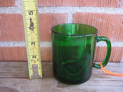 Vintage ***   FRENCH   *** Clear Green Glass Mug Cup FRANCE