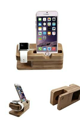 Apple Watch & iPhone Docking Station Charger Stand Cradle Universal Brown