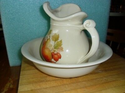 McCoy Pitcher and Bowl, #7515