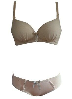 Teen Girls Padded Bra, Non Wired With Matching Pants