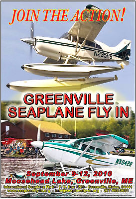 Seaplane Fly In Greenville Maine Official Poster 2010
