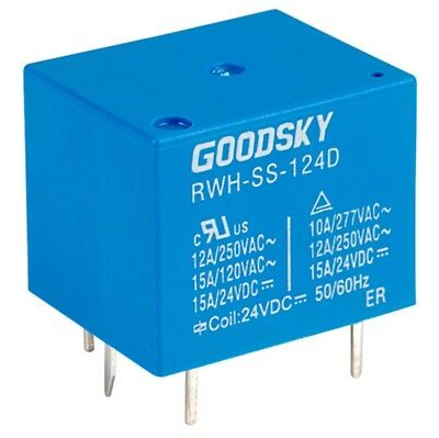 24V Coil Relay Rwh-Ss-124D Ruuh-Ss-124D Goodsky 12A