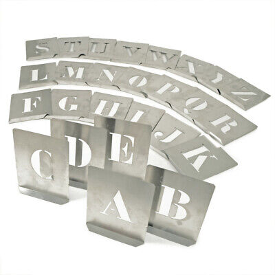 Kennedy 200mm (set OF 26) Zinc Stencil Letters
