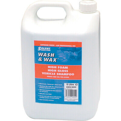 Solent Cleaning Sww-5000 Wash & Wax 5Ltr