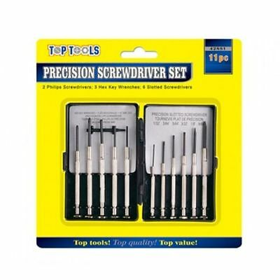 11Pc Precision Screw Driver Set Slotted Cross Head Repair Watch Mobile Clock New