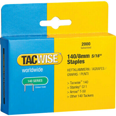 Tacwise 140/8Mm Galvanised Staples (Box-5000)