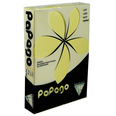 Papago Trophee A4 80GSM Copier Paper Pale Yellow (pk 500)