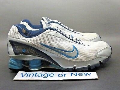 47abae3e8fab9c Women s Nike Shox Turbo+ IV 4 White Navy Silver Light Blue Running 2006 sz  6.5