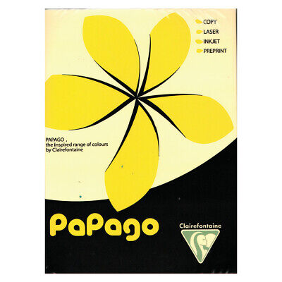 Papago A4 Copier Paper Bright Yellow 80GSM (500)