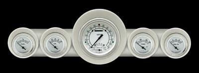 Classic White 59-60 Chevy Gauges w/ Speedtachular - Classic Instrument CH59CW65