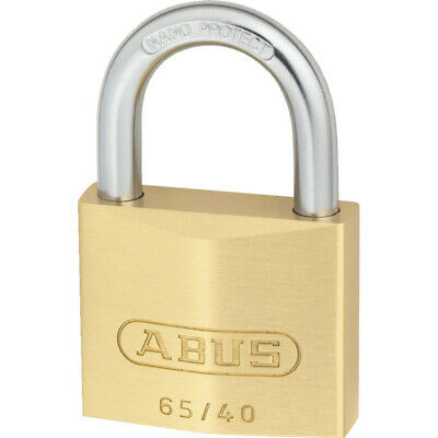 Abus 65/40 Brass Key Padlock - 40mm