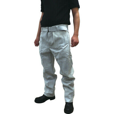 Leather Welders Trousers - Grey - Large
