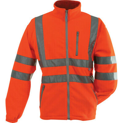 Pulsarail Pr508 Large Hi-Vis Orange Polar Fleece