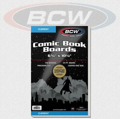 BCW - 100 Current Comic Book Backing Boards NEU! OVP!