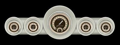 Nostalgia VT 59-60 Chevy Gauges w/ Speedtachular - Classic Instruments CH59NT65