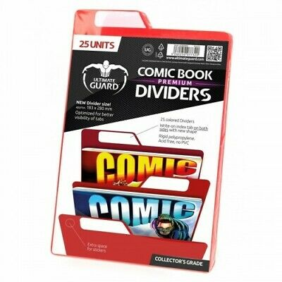 25 INTERCALAIRES POUR COMICS PREMIUM COMIC BOOK DIVIDERS ROUGE - Ultimate Guard