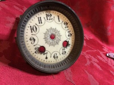 Pretty French Porcelain Dial And Bezel Very Nice Dial