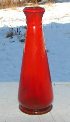 Blue Mountain Pottery Burnt Red Bud Vase Mid Century Modern Vintage Canada
