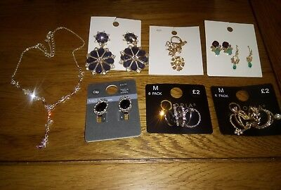 lot jewellery approx £30 of new items M&S H&M PRIMARK earrings, necklace rings