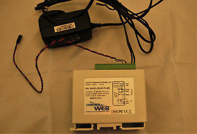 ControlByWeb X-300 Temperature Logger and Web-Enabled Thermostat