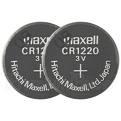 2 x Maxell Lithium CR1220 batteries 3V Coin Cell DL1220 KCR1220 Watches