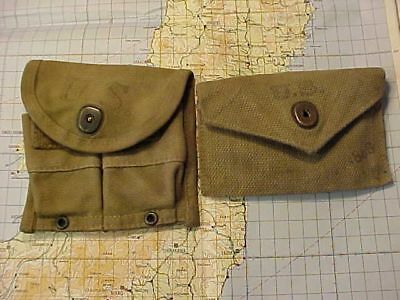 Original Wwii Us M1 Carbine Mag Pouch And Bandage Pouch