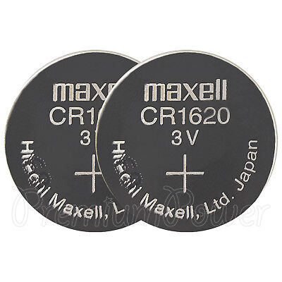 2 x Maxell Lithium CR1620 batteries 3V Coin Cell DL1620 KCR1620 ERC1620 Watches