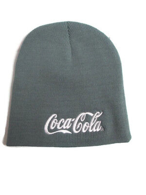 Coca-Cola Gray Warm Beanie with Embroidered White Logo  - BRAND NEW
