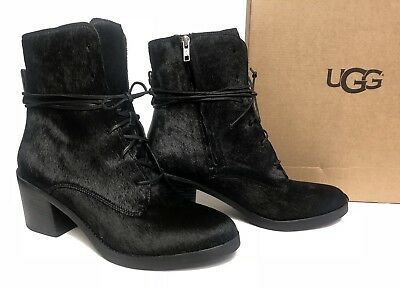 094c2f5d053 UGG AUSTRALIA ORIANA Exotic black cow hair women's boots size 8US ...