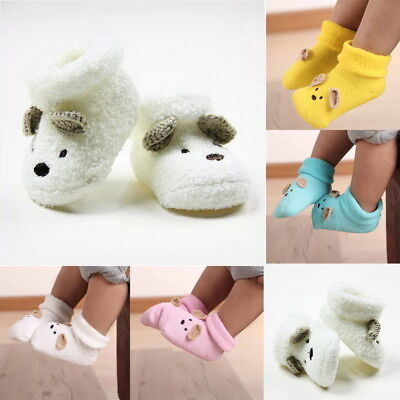 Baby Infant Newborn Cute 3D Soft Fluffy Socks Warm Thicken Socks Stockings