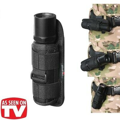 Tactical Molle 360 Degrees Rotatable Flashlight Holster Pouch Holder Waist Case