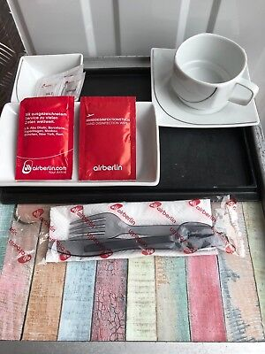 Air Berlin Business Class Starter Kit Geschirr Flugzeugtrolley  / Unit