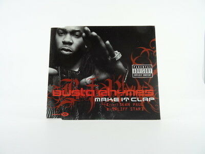 BUSTA RHYMES, MAKE IT CLAP, M/M, 3 Track, CD Single, Picture Sleeve, BMG, 828765