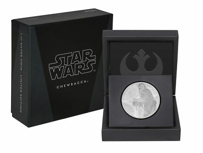 2017 Niue Star Wars Classic Chewbacca 1 oz Silver Proof $2 With Original Package