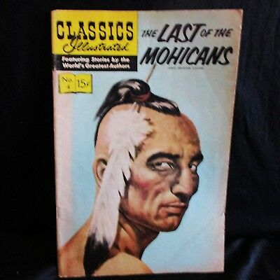 """The Last of the Mohicans"" #4 Classics Illustrated Comic Book  (1964)"
