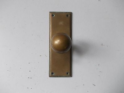 Vintage Brass Door Knob And Plate