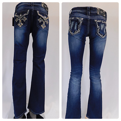 NEW Women's Signature Boot Cut Miss Me Jeans Sz 25, 26, 30, 31 With 2 Styles