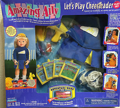 """Amazing Alley Interactive Play Set-""""let's Play Cheerleader""""-Shelf Wear-Dents-New"""