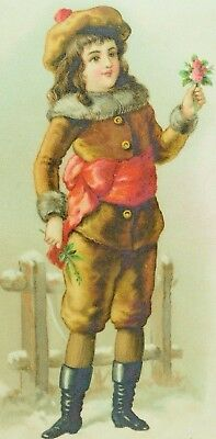 1880's Henry L. Dauernheim Paper Hanings Winter Scene Child Fur-Lined Suit  *P