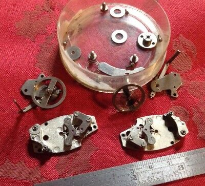2 Heavy Duty Clock Platforms Escapement so In Bits Military? Marked 2-630