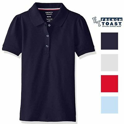 New French Toast Girs Uniform 2 PACK Polo Shirts Sizes & Colors!!