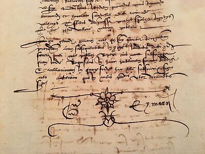 Watermarked Medieval Document