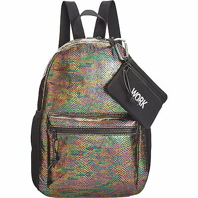 Ideology Womens Metallic Snake Print Backpack Multi $69.50