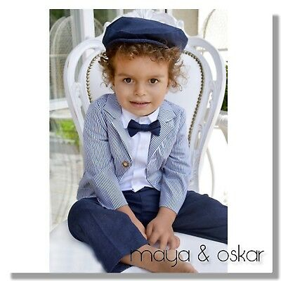 Baby Boys Navy Outfit Formal Smart Set Wedding Suit Christening Baptism Party