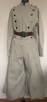 Wah Maker Western Frontier Costume Split Leg Riding Pants Bib Blouse Cowgirl 16